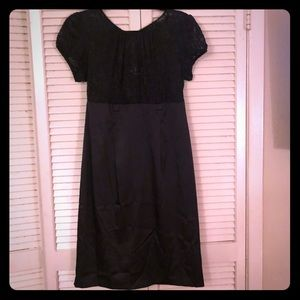 {Alyx}Short sleeve brocade babydoll formal dress